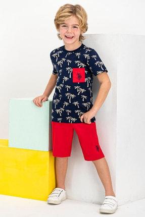 US Polo Assn Erkek Çocuk Lacivert  Lisanslı Bermuda Takım Şort & Bermuda 0