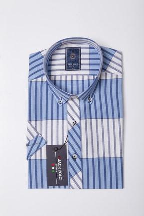 Erkek Slim Fit Mavi Gömlek JP275