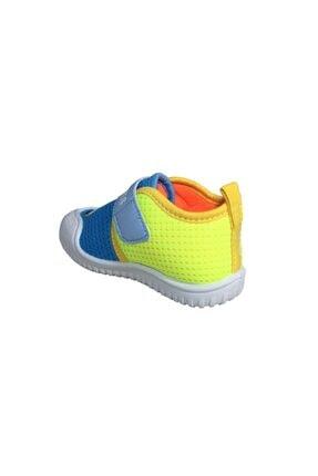 Gezer Erkek Çocuk Mavi -Sarı  Keten Anaokulu Kreş Ayakkabısı 3034Sneaker 2