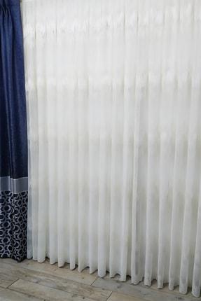 Evdepo Home Hazır Ekstraforlu Nakışlı Örme Tül Perde - Krem 0