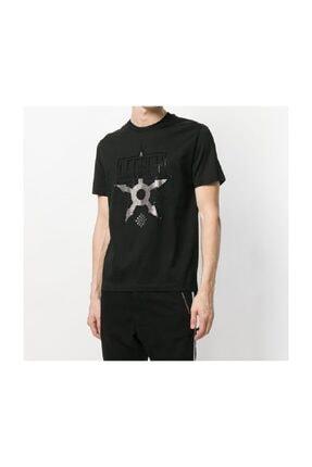Les Hommes Yapay Elmas Taş Süslemeli Sıfır Yaka Erkek T-shirt 1