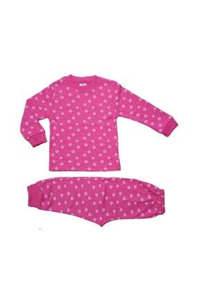 Hece Bebe Çiçek Desenli Pijama Takımı 0