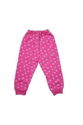Hece Bebe Çiçek Desenli Pijama Takımı 1