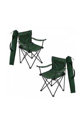 CiciMarketim 2 Yeşil Rejisör Kamp Sandalyesi + 1 Adet 45*60 Masa Set 1
