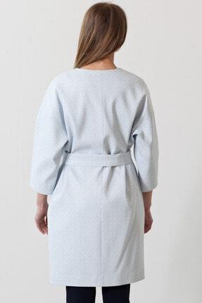 Herry Kadın Mavi-beyaz Kaban 20fk83001 2
