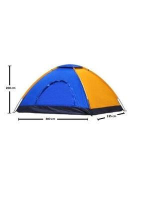 Papakudi 4 - 5 Kişilik 200x200x135 Ölçülerinde Kamp Çadırı Tatil Deprem 1