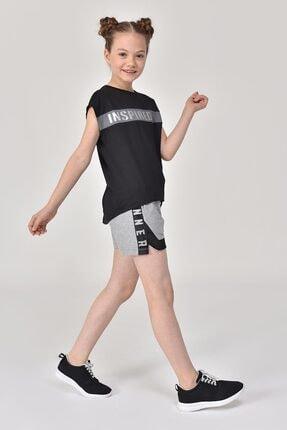 bilcee Siyah Kız Çocuk T-Shirt GS-8157 4