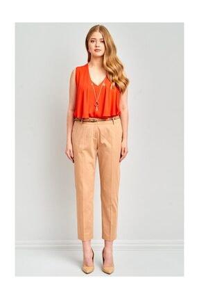 Ekol Kadın Kemerli Likralı Pantolon 1