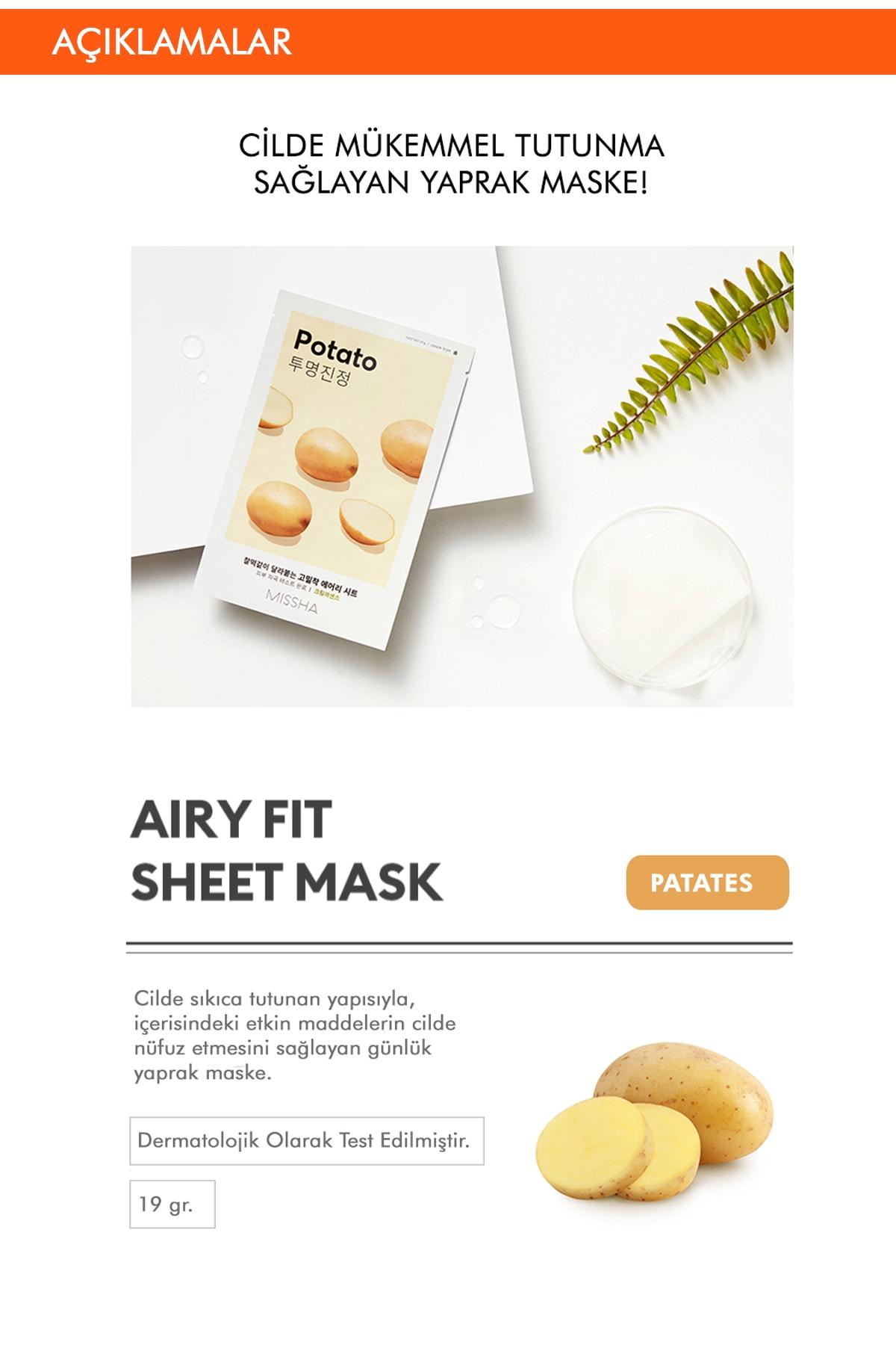 Missha Airy Fit Sheet Mask (Potato) 1