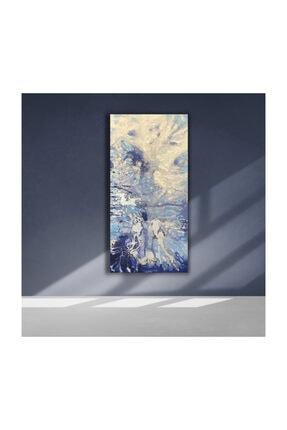 Olga Çerçeve Mavi Modern Yağlı Boya Tablo 0