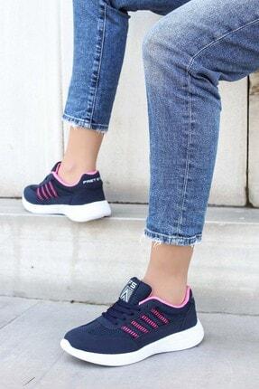 Picture of Lacivert Fuşya Kadın Sneaker Ayakkabı 925za221