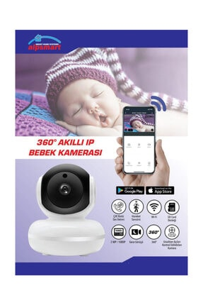 ALPSMART Akıllı Kablosuz Bebek Kamerası 360 3