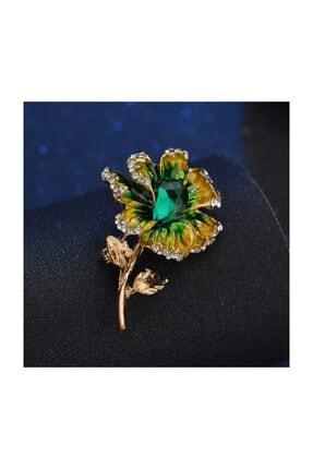 Esra Pamir Kadın Sarı Çiçek Broş 0