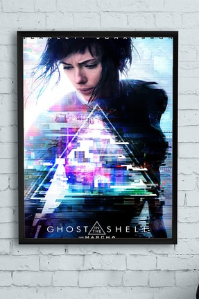 Postermanya Ghost In The Shell - Film Afişi Çerçeveli Tablo (50x70cm) 0