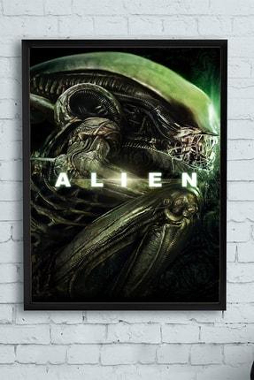 Postermanya Alien Film Afişi Çerçeveli Tablo (50x70cm) 0