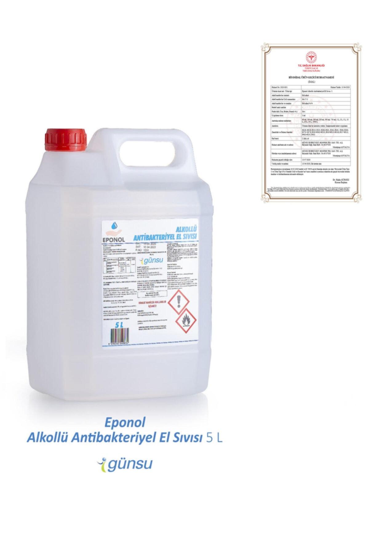 Eponol %70 Alkollü Antibakteriyel El Dezenfektanı 5l