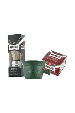Proraso Sandal Ağacı Ve Shea Butter Özlü 150 ml + Tıraş Kasesi + Tıraş Fırçası 0
