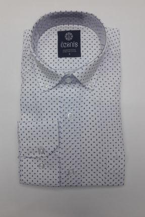 Özeniş Erkek Beyaz Uzun Kollu Regular Fit Gömlek 0