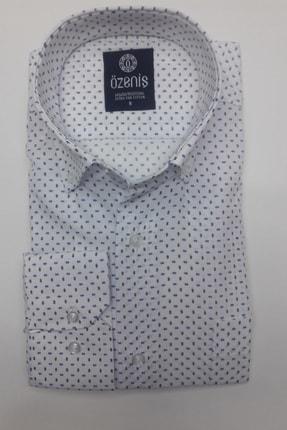 Özeniş Erkek Beyaz Uzun Kollu Regular Fit Gömlek 1