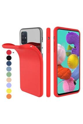 Zipax Samsung Galaxy A71 Kılıf -anano Soft Pürüzsüz Renkli Silikon - Kırmızı 0