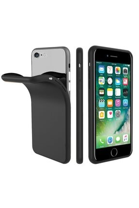 Zipax Apple Iphone 8 Plus Kılıf -anano Soft Pürüzsüz Renkli Silikon - Siyah 0