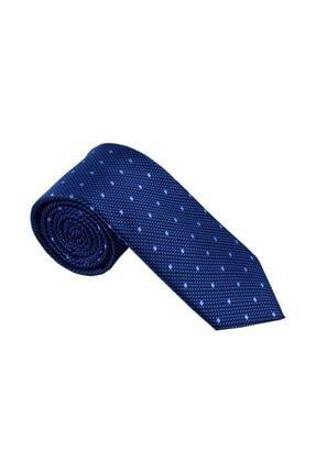 Otto Moda Mavi Desenli Kravat Mendil Seti 0