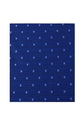 Otto Moda Mavi Desenli Kravat Mendil Seti 1