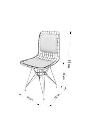 Kenzlife Knsz Kafes Tel Sandalyesi 1 Li Mazlum Morbonar Sırtminderli Ofis Cafe Bahçe Mutfak 3