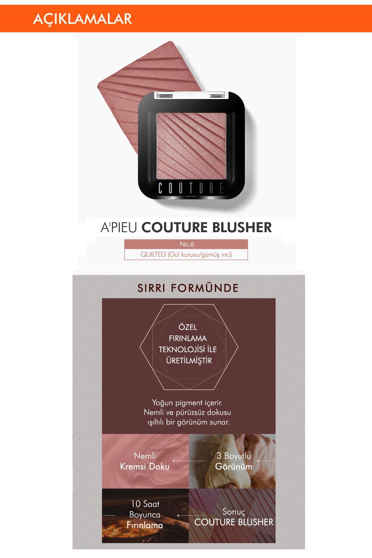 Missha Doğal Görünüm Sağlayan Işıltılı Allık APIEU Couture Blusher (No.6) 2
