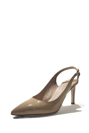 Nursace Kadın Rugan Deri Bilekten Bağlamalı İnce Topuk Ayakkabı 0
