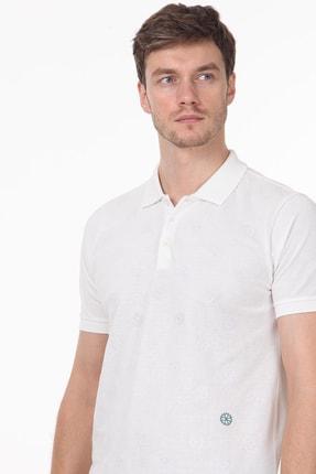 Ramsey Erkek Beyaz Desenli Örme T - Shirt RP10119909 1