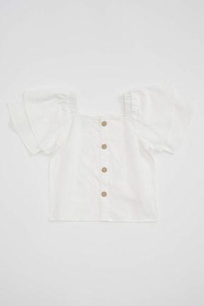 Defacto Kız Çocuk Kısa Kollu Omuzu Açık Bluz 0