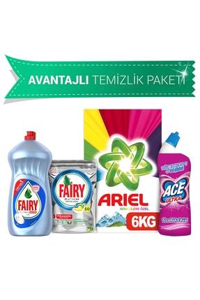 Ariel 6Kg Toz+Fairy 50 Kaps Bul Det+Hijyen 1500Ml+Ace Jel 0
