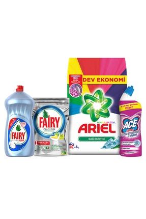 Ariel 6Kg Toz+Fairy 50 Kaps Bul Det+Hijyen 1500Ml+Ace Jel 1