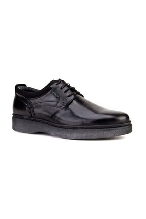 Cabani Bağcıklı Klasik Erkek Ayakkabı Siyah Analin Deri 0
