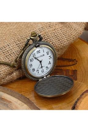 Keskin Color Kabartmalı Atatürk Desenli Köstekli Cep Saati Klasik Kemer Zincirli 1