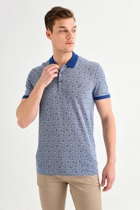 Avva Polo Yaka Çiçek Baskılı T-Shirt 1