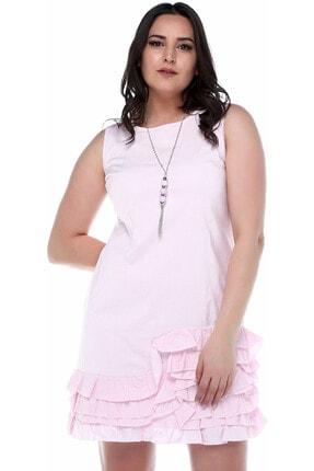 B&S LINE Kadın Etek Ucu Fırfırlı Elbise 0