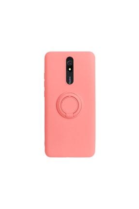 casemarkt Xiaomi Redmi 8a Yüzüklü Standlı Neon Yavruağzı Silikon Telefon Kılıfı 0