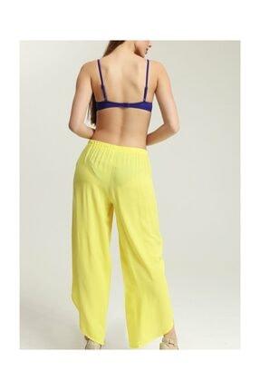 Suwen Kadın Sarı Cuba Pantolon Pareo 0