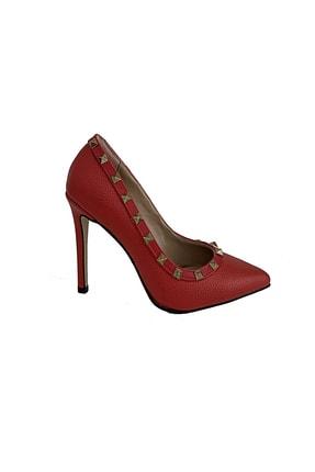 Beggi Kadın Kırmızı Ince Topuklu Ayakkabı 1