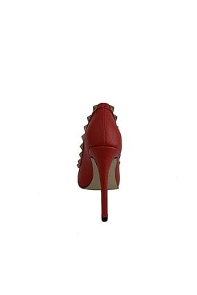 Beggi Kadın Kırmızı Ince Topuklu Ayakkabı 2