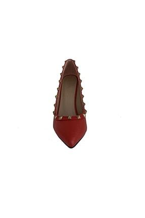 Beggi Kadın Kırmızı Ince Topuklu Ayakkabı 3