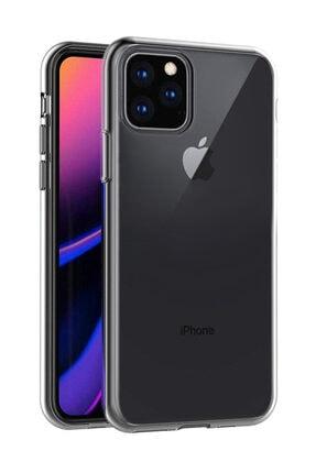 Microsonic iPhone 11 Pro Max (6.5'') Kılıf, Microsonic Transparent Soft Beyaz 0