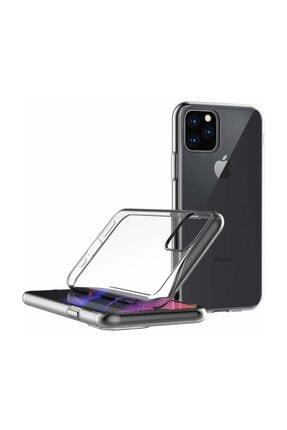 Microsonic iPhone 11 Pro Max (6.5'') Kılıf, Microsonic Transparent Soft Beyaz 2