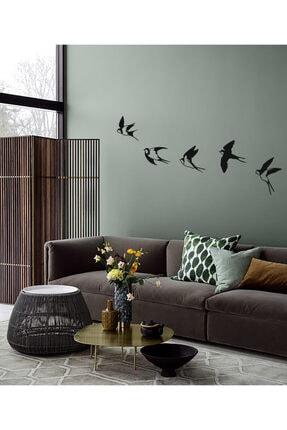 Archtwain Uçan Kırlangıçlar Duvar Dekoru | Kuş Seti Modern Metal Duvar Aksesuarı 2
