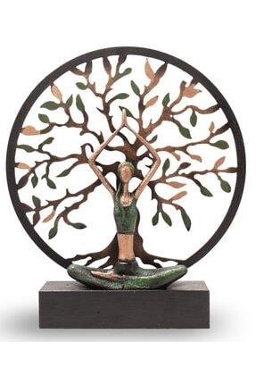 Gift Garden Yoga Yapan Kadın Büyük Yeşil Hayat Ağacı 0
