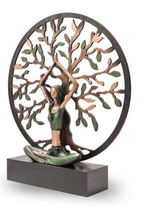 Gift Garden Yoga Yapan Kadın Büyük Yeşil Hayat Ağacı 1