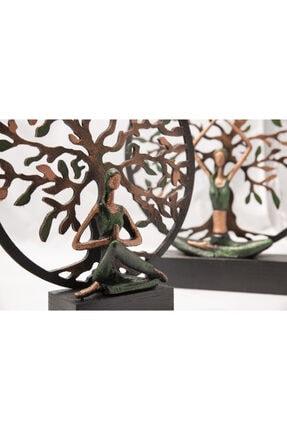 Gift Garden Yoga Yapan Kadın Büyük Yeşil Hayat Ağacı 3