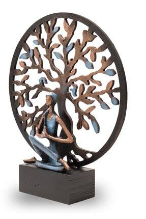 Gift Garden Yoga Yapan Kadın Mavi Küçük Hayat Ağacı Biblo 1